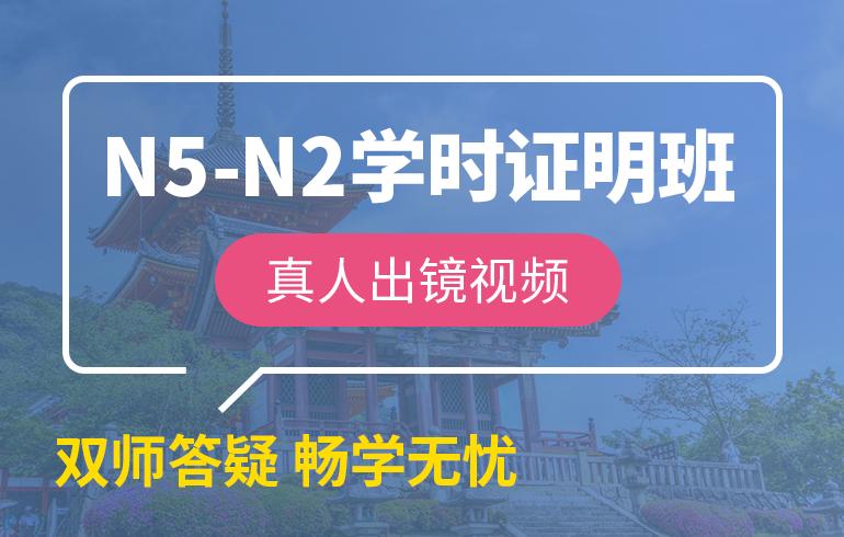 未名天日语培训网N5-N2学时证明班